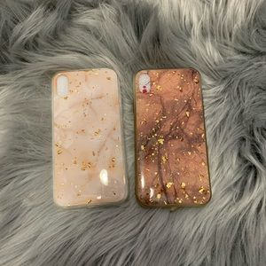 Accessories - iphone xr marble and gold accent phone cases